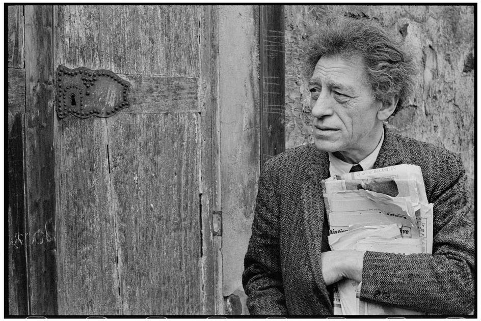 Portrait of Alberto Giacometti taken by Henri Cartier-Bresson, 1961 ...