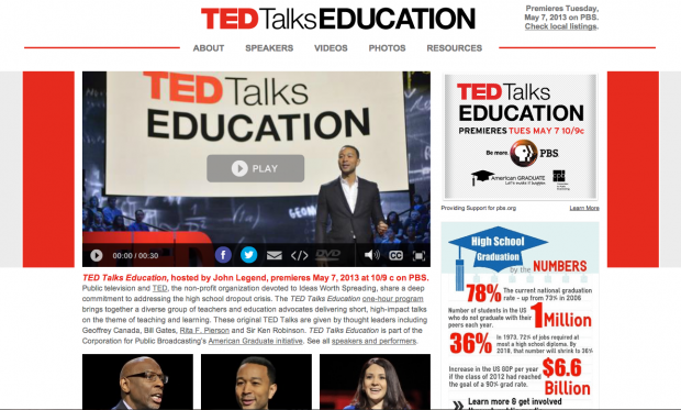TED Talk Education  {Screen Shot}