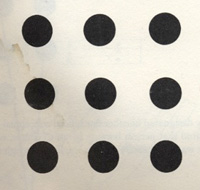 dots, 3 rows of 3